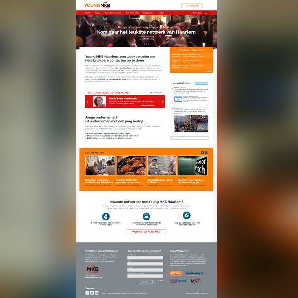 Voorbeeld van ontwerp nieuwe website YMKB